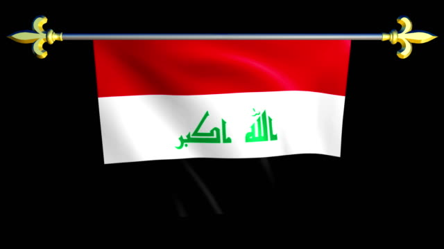 Large-Looping-Animated-Flag-of-Iraq