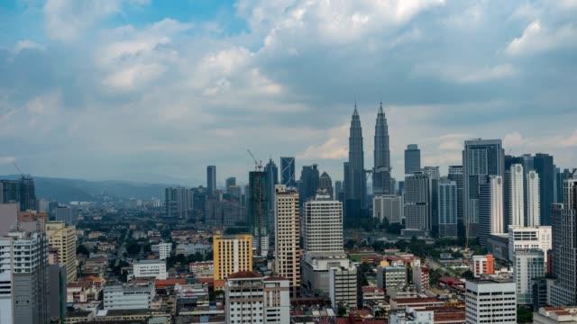 Kuala-Lumpur-city-skyline-timelapse,-Kuala-Lumpur,-Malaysia,-4K-Time-lapse
