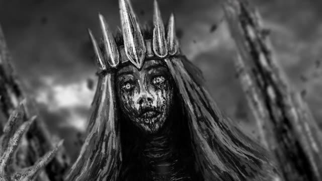 Reina-oscura-con-la-animación-de-la-corona-