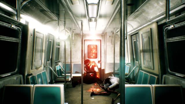 Terror-tren-abandonado-con-zombie-Horror-y-la-escena-post-apocalíptico-Loopable-