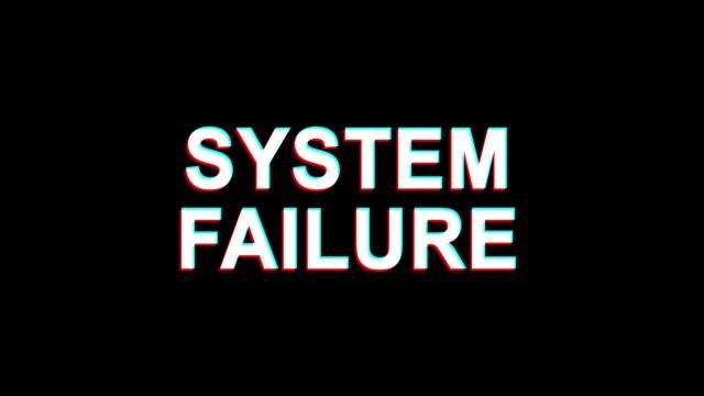System-Failure-Glitch-Effect-Text-Digital-TV-Distortion-4K-Loop-Animation