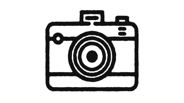Analog-Camera-Icon-Animation-Footage-&-Alpha-Channel
