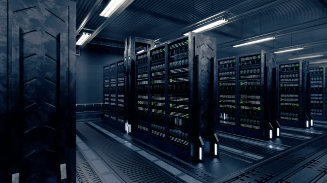 4k-Animation-presenting-data-center-while-working-
