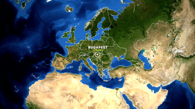 EARTH-ZOOM-IN-MAP---HUNGARY-BUDAPEST