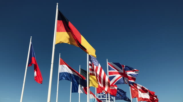 World-wide-national-flags-flying-united