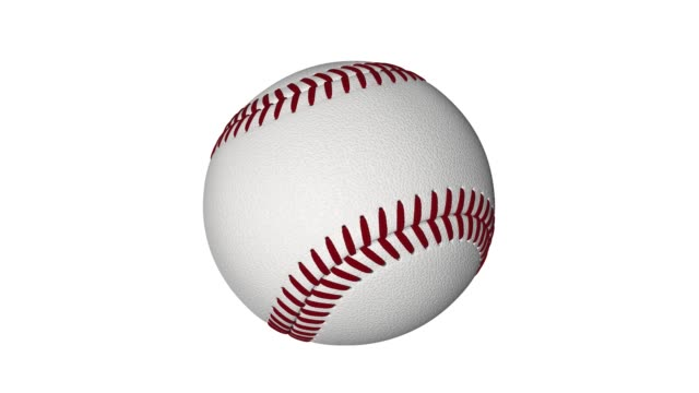 Baseball-Looping-footage-has-4K-resolution-White-background