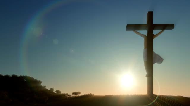 Jesus-Kreuz-wunderschönen-Sonnenaufgang