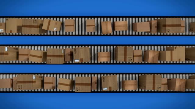 Paperboxes-en-cinta-transportadora-bucle-de-animación
