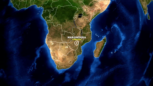 EARTH-ZOOM-IN-MAP---ZIMBABWE-MARONDERA