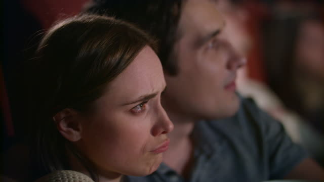 Woman-watching-melodrama-with-boyfriend-Young-couple-watching-film