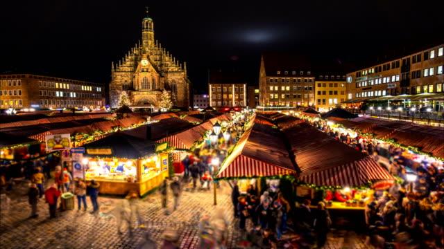 Nuremberg-Christmas-(christkindlesmarkt)-market-Night-time-lapse-