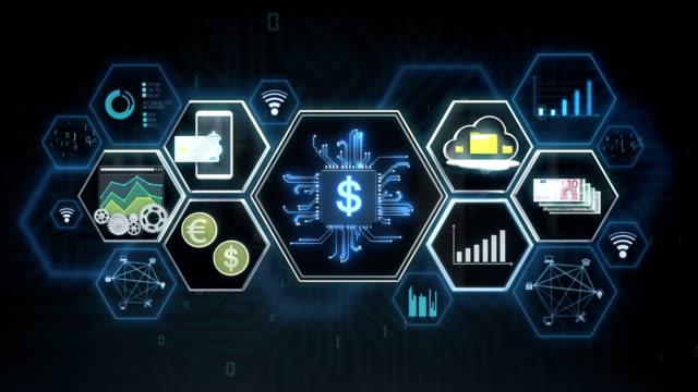 Icono-de-aleta-tech-tecnología-financiera-y-varios-icono-de-información-Película-de-tamaño-de-4K-