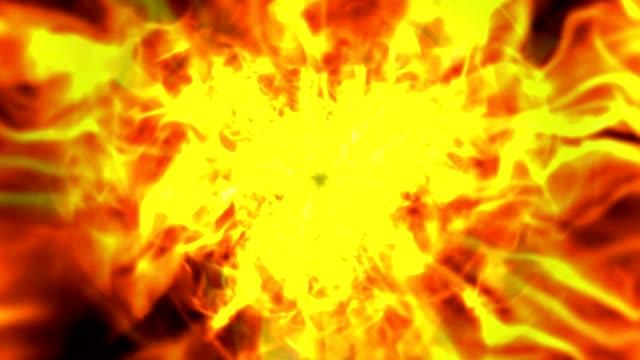 Explosión-de-túnel-de-anillos-de-fuego-las-llamas-de-animación-Renderización-Fondo-lazo