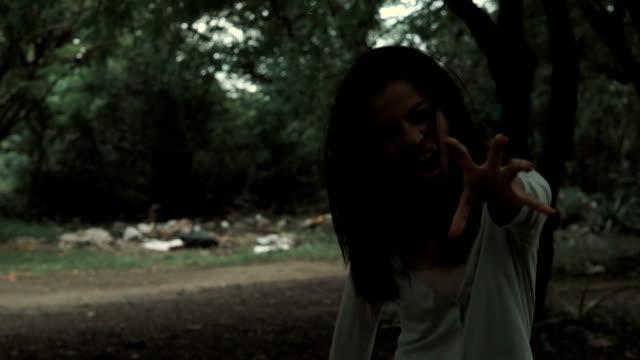 zombie-girls-run-to-camera-scene-shot-for-Halloween-theme-concept