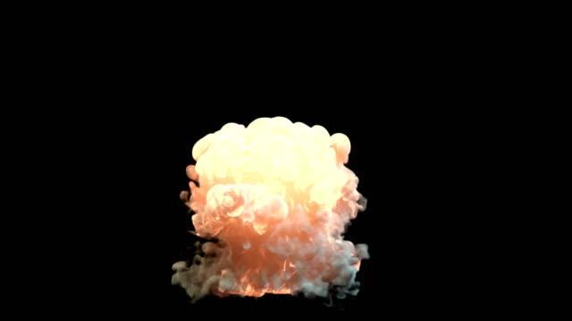 Explosión-con-humo-y-fuego-negro