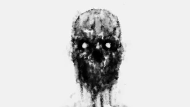 Das-menschliche-Gesicht-wird-zersetzt-und-der-freiliegende-Schädel-zerfällt-zu-Staub-