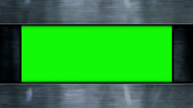 Puerta-de-metal-y-pantalla-verde-animación-Renderización-Fondo