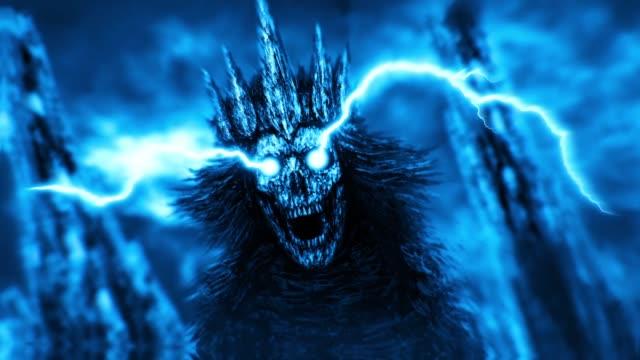 Dunklen-Königin-mit-Krone-Blaue-Farbe