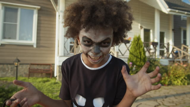 African-Teenager-on-Halloween-Party