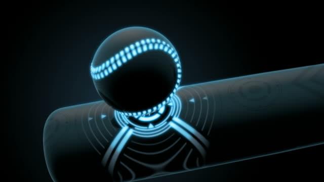Closeup-de-un-bate-de-béisbol-futurista-y-bola
