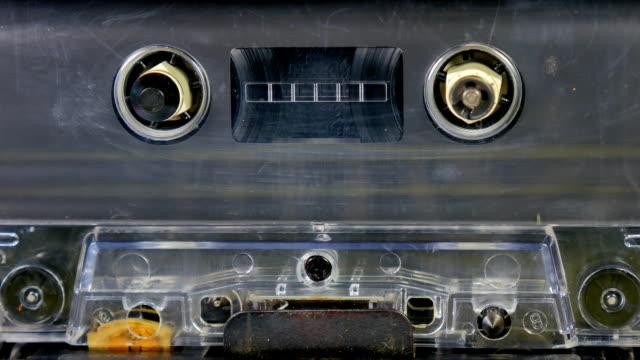 Carrete-de-cinta-Audio-viejo-jugando-