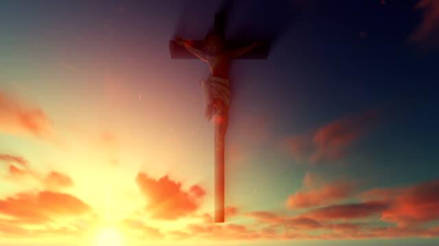 Jesús-cruz-contra-hermoso-amanecer
