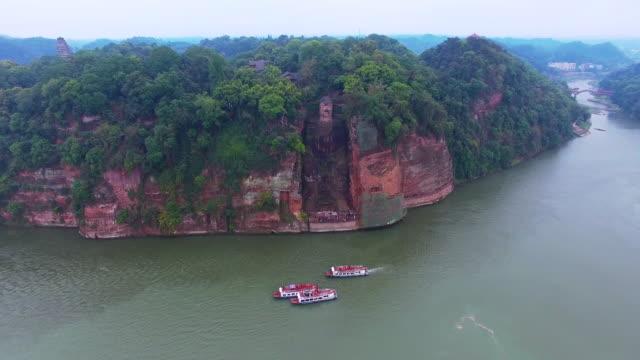 Vista-aérea-de-la-gran-Buda-de-Leshan-de-Sichuan-China