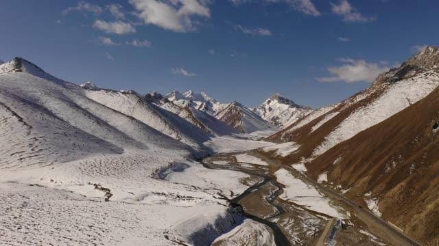 Snow-Mountain-Duku-Highway-Xinjiang-China