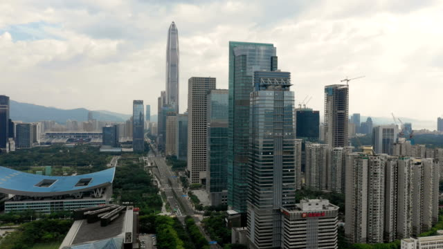 Aerial-view-of-Shenzhen-cityscape-at-daytime