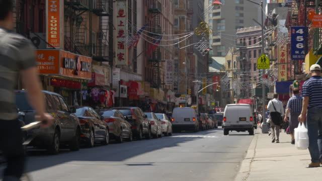 Vereinigte-Staaten-Neu-York-Stadt-Manhattan-berühmten-China-Stadt-Block-Blick-auf-die-Straße-4-K