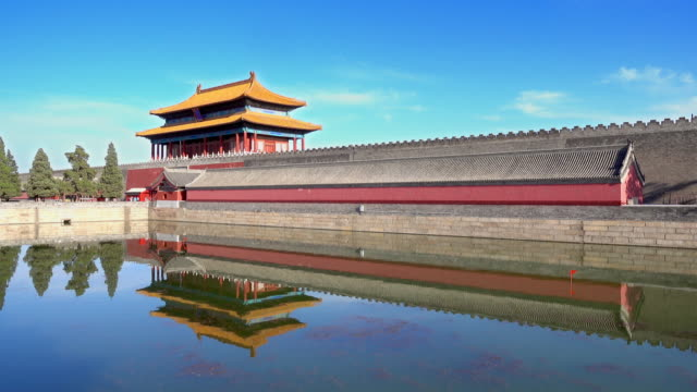 Corner-Tower-in-Imperial-Palace-in-Beijing-China