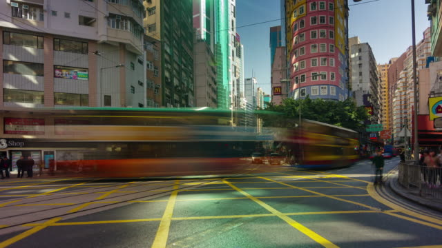 4k-time-lapse-of-extremely-busy-traffic-street-in-hong-kong-china
