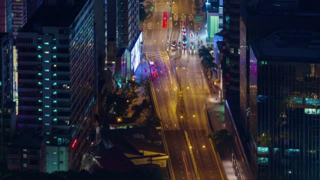 ciudad-noche-tráfico-calle-4-k-lapso-de-hong-kong