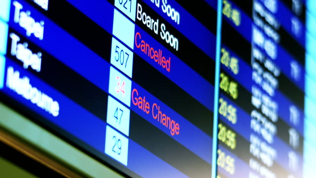 Airport-Flight-Timetable-Information-Board-