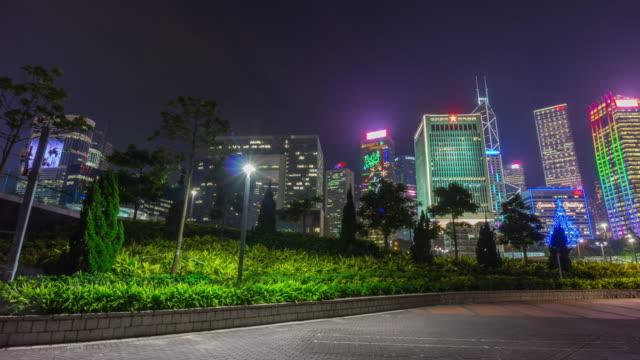 china-hong-kong-city-center-night-light-cityscape-street-view-panorama-4k-time-lapse