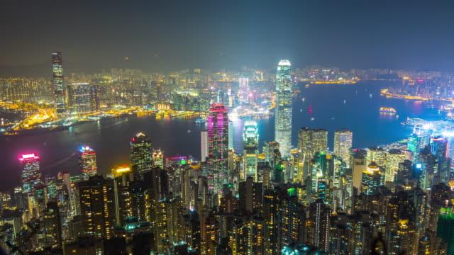 China-noche-luz-hong-kong-ciudad-kowloon-isla-pico-panorama-4k-lapso-de-tiempo