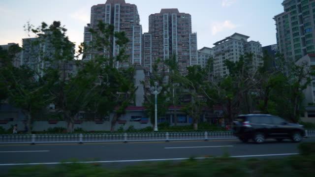 china-de-panorama-calle-4k-de-Crepúsculo-tiempo-zhuhai-paisaje-urbano-tráfico