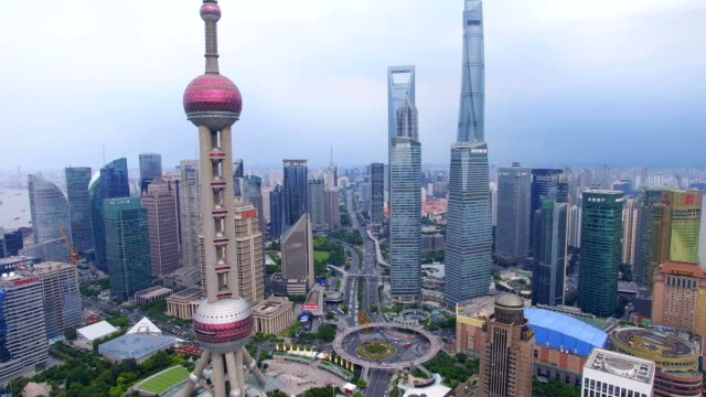 Aerial-View-of-Lujiazui-business-center-Shanghai-China-
