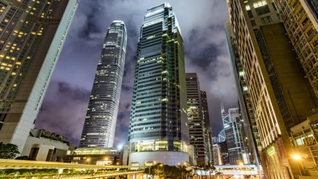 Traffic-at-Night-/-Hong-Kong-China