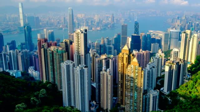 Horizonte-del-centro-timelapse-de-Hong-Kong-Hong-Kong-China