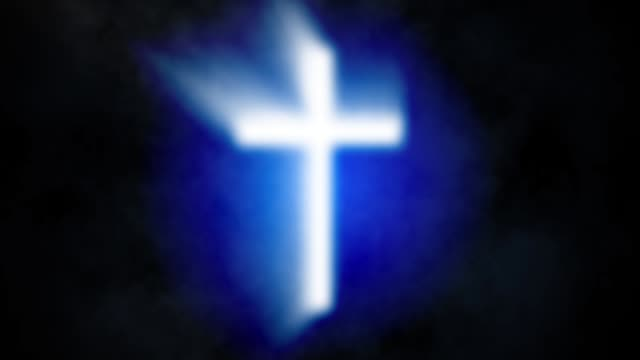 Abstract-background-with-glowing-cross