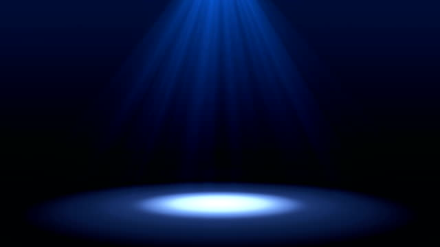 Blue-spotlight-on-stage-performance-in-a-theater-isolated-on-black-background-mock-up-in-futuristic-technology-concept-Illustration-background-