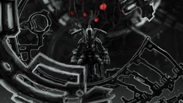 Astronauta-extraterrestre-se-encuentra-en-juego-en-su-trono-de-hierro