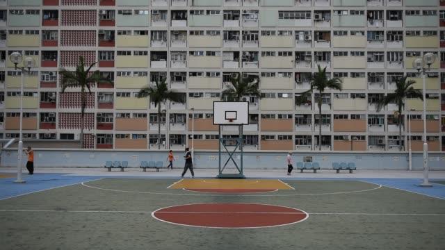 Colorful-Basketball-Court-in-Choi-Hung---Hong-Kong