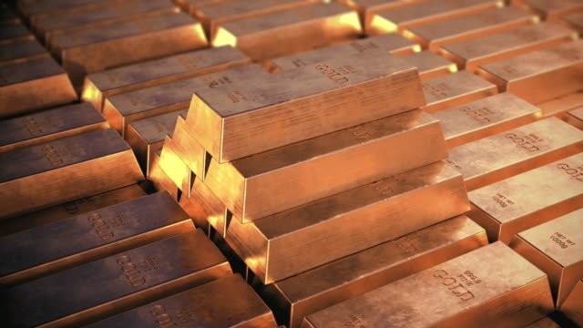 Gold-bars-Pyramid-from-bricks-