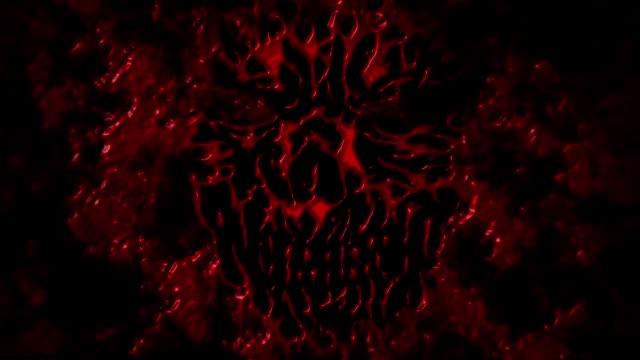 Cara-de-demonio-miedo-con-salpicaduras-de-sangre-