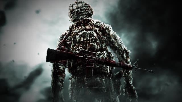 Soldado-zombi-siniestro-se-volvió-y-se-ve