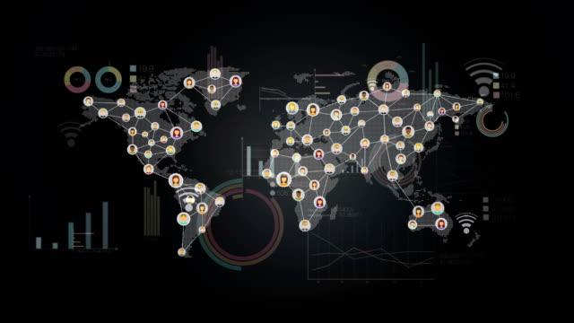 World-global-Communication-technology-4K-size-economic-diagram-chart-graph-