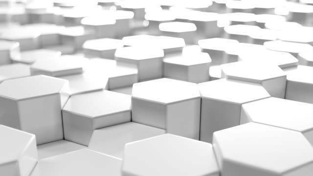 Fondo-abstracto-hexagonal-geométrico-blanco-Renderizado-3D