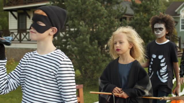 Four-Children-on-Halloween-Party